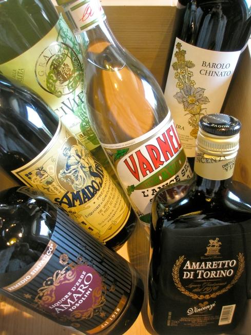 Bepi Tosolini Amaro, Amaretto Torino, Varnelli Sibilia, Varnelli Anice, Vajra Barolo Chinato, Cividina Grappa alla ruta