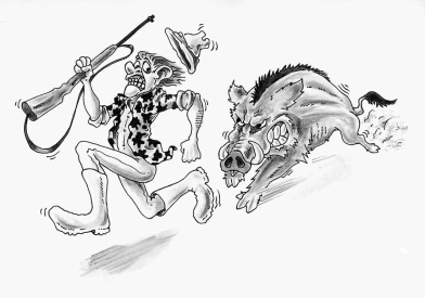 Wild Boar, shooter, gunman, hunter