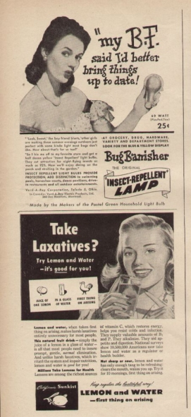 vintage ad, old advertisement, laxatives