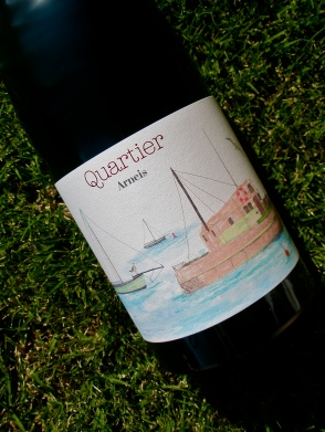 wine, label, grass