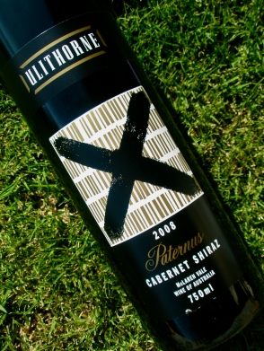 wine, grass, label