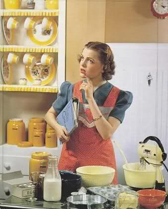 cooking, baking, recipe, vintage, lady