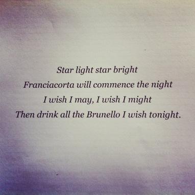 star light star bright, wine, quote, poem
