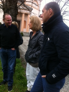 Chatting with Giovanella and her winemaker at the Castello di Luzzano estate