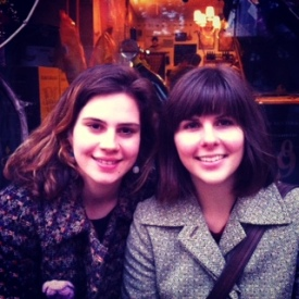 With friend Sophia in Castelfranco Veneto