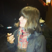 Sharing my second ever Toscanello cigar with my cousin, Gabrielle.