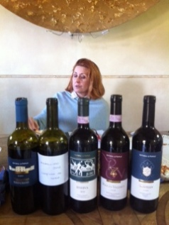 The elegant Elisabetta Geppetti of Fattoria Le Pupille in the Scansano area, Tuscany