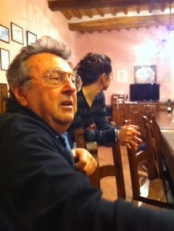 Sharing a jovial dinner with San Filippo Fanti
