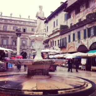Verona markets in Piazza Erbe