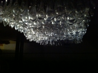 An incredible artwork in the cellar at Castello di Ama