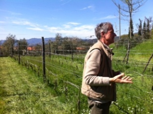 Andrea Kilghren of Santa Caterina in Liguria explaining the simplicity of what he does.