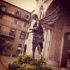 Lovely statue in Verona
