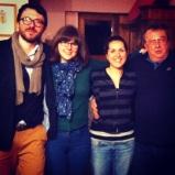 With San Filippo Fanti and the crew in Montalcino, Castelnuovo dell'Abate