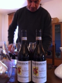 Aldo Vacca opening all the good Nebbiolo