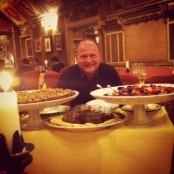 Martin keen on the desserts