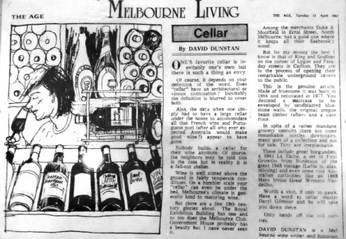 1982 Article Melbourne Living